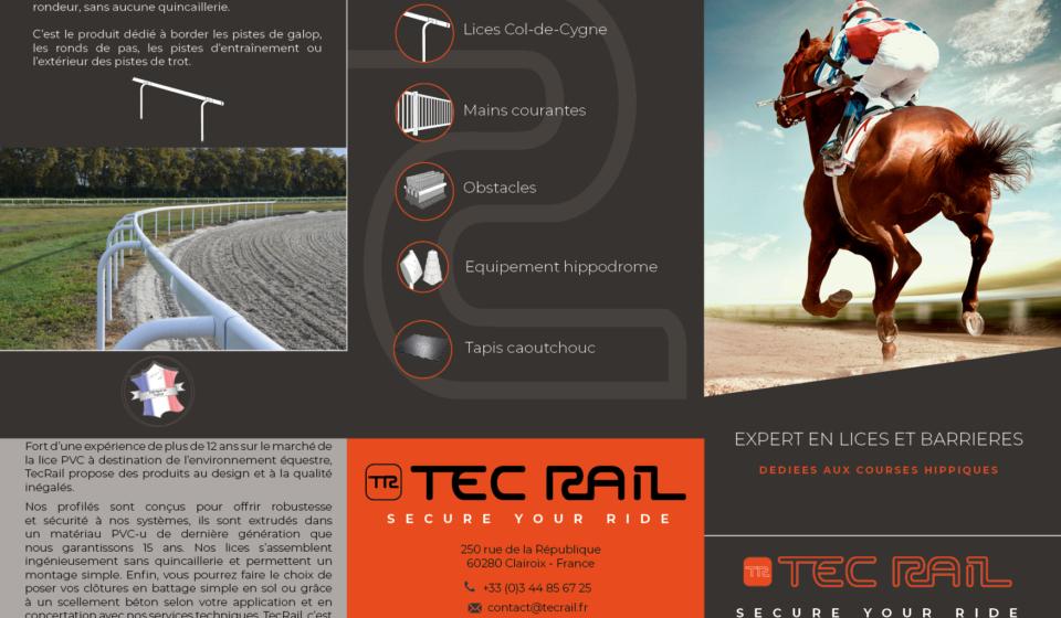 Plaquette TecRail- Anaïs Clavel, maquettiste designer graphique