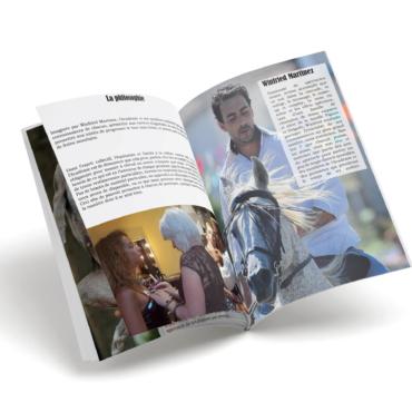Catalogue de présentation du projet de l'Académie des arts du spectacle, association équestre - Anaïs Clavel, maquettiste designer graphique