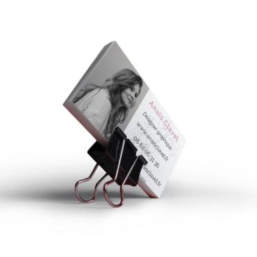 Carte visite Anaïs Clavel - Anaïs Clavel, maquettiste designer graphique
