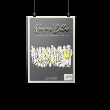 Affiche jaune Nougar'elles 2020 - Anaïs Clavel, Designer graphique