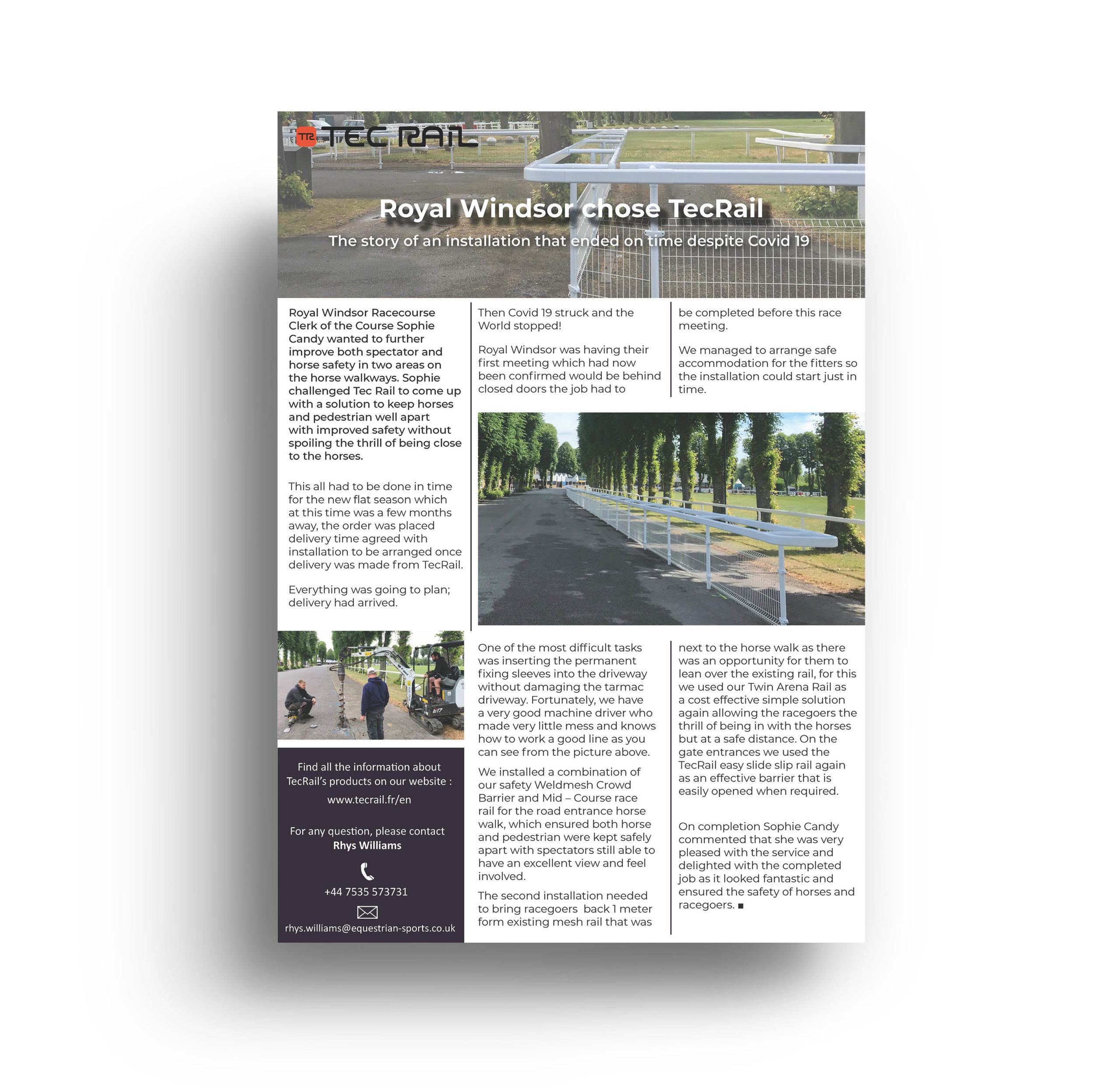 Royal Windsor, publicité print, TecRail UK - Anaïs Clavel, designer graphique