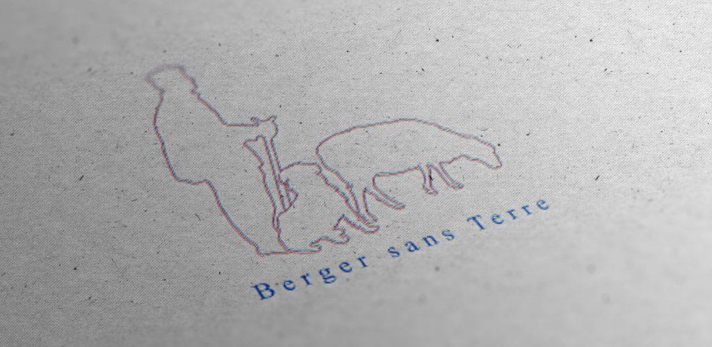 Logo Berger sans Terre, élevage de chiens de bergers - Anaïs Clavel, designer graphique