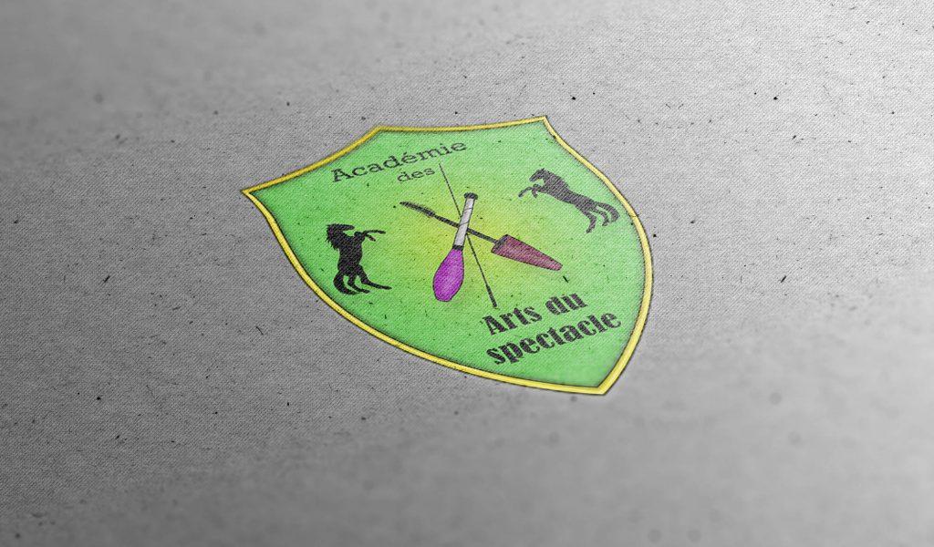 Logo Académie des arts du spectacle, association équestre - Anaïs Clavel, designer graphique